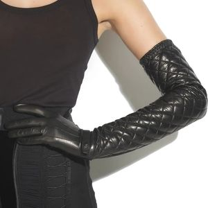Phi Long Quilted Leather Gloves Sz 6.5